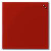 Стеклянная магнитно-маркерная доска Naga 45×45 красная) 10720)