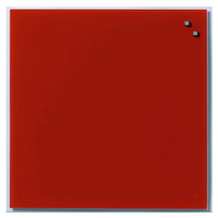 Стеклянная магнитно-маркерная доска Naga 45×45 красная) 10720), фото 1