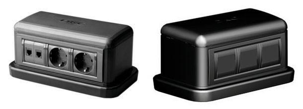 DKC 09090 Напольная башенка BUS, 12 модулей, черная, RAL7016