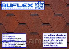 Гибкая черепица RUFLEX Sota (Красный крыжовник), SBS (СБС) модифицированный битум, т+7(707)5705151
