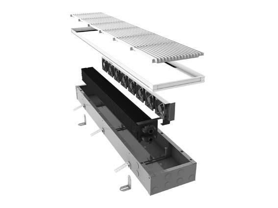 Радиатор встраеваемый в пол MINI CANAL DBE (принудительная конвекция)