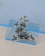 Штамп для скрапбукинга: Розочки, Бабочки