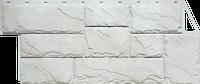"""Фасадная панель FineBer серия """"Камень крупный"""" цвет Мелованный белый, фото 1"""