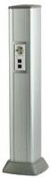 DKC 09591 Колонна алюминиевая 0,71 м, цвет серый металлик
