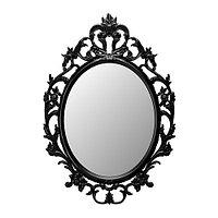 Зеркало овал УНГ ДРИЛЬ черный ИКЕА, IKEA, фото 1
