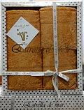 Подарок для женщины - набор бамбуковых полотенец с кружевом, фото 5