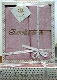 Подарок для женщины - набор бамбуковых полотенец с кружевом, фото 6
