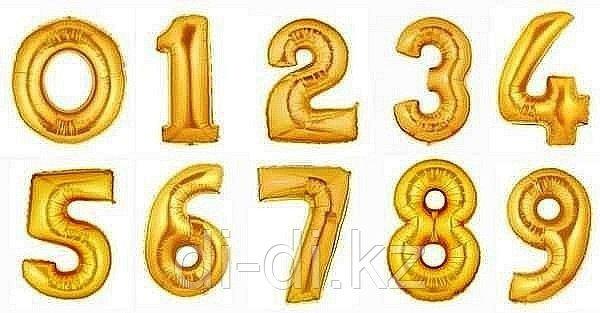 """Цифра , золото. 40"""" Flexmetal - фото 1"""