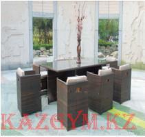 Стол прямоугольный с 8 креслами