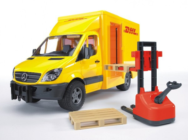 Машинка Mercedec Benz Sprinter фургон DHL с погрузчиком 02-534