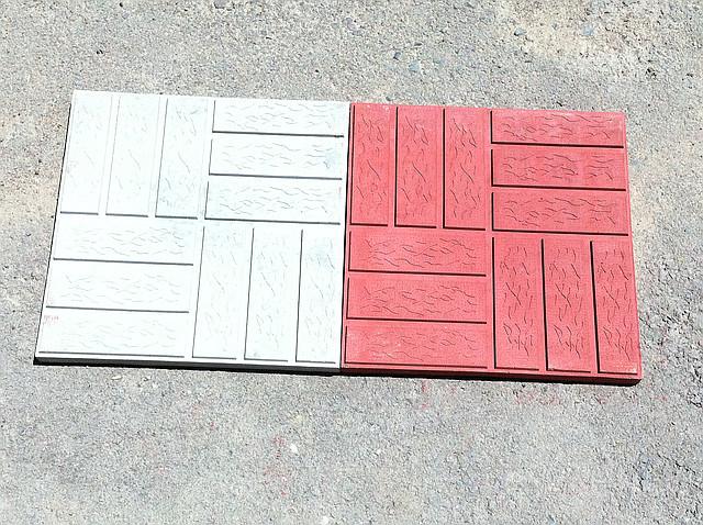 """Тротуарная плитка 3 см """"Паркет"""" серый"""