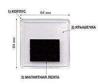 Заготовка акрилового магнита 65х65 мм, квадратная