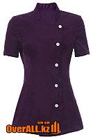Форменная фиолетовая блузка