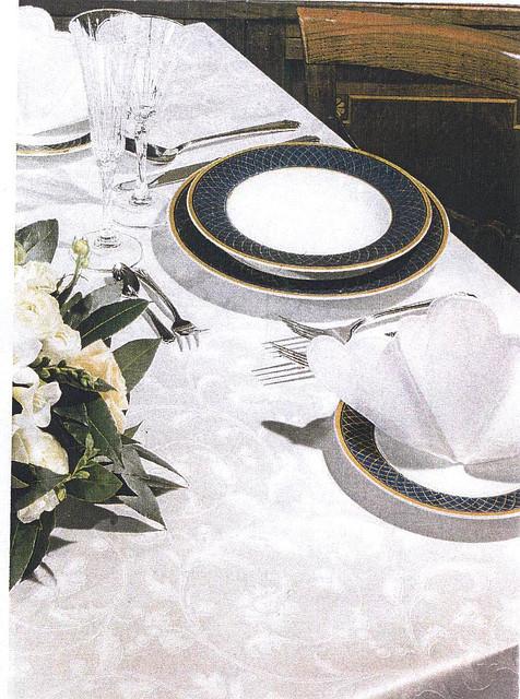 Цептер скатерть ROMA белая на 6 персон + салфетки