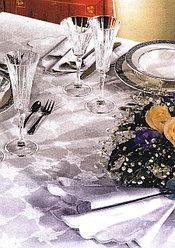 Цептер скатерть SIENA  белая на 6 персон + салфетки