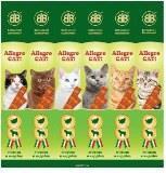 Allegro лакомство для кошек колбаски из ягненка и индейки, 6 штук по 5 г