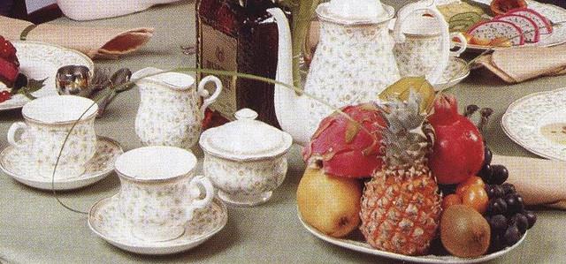 Кофейный сервиз на 12 персон Фарфор Флора