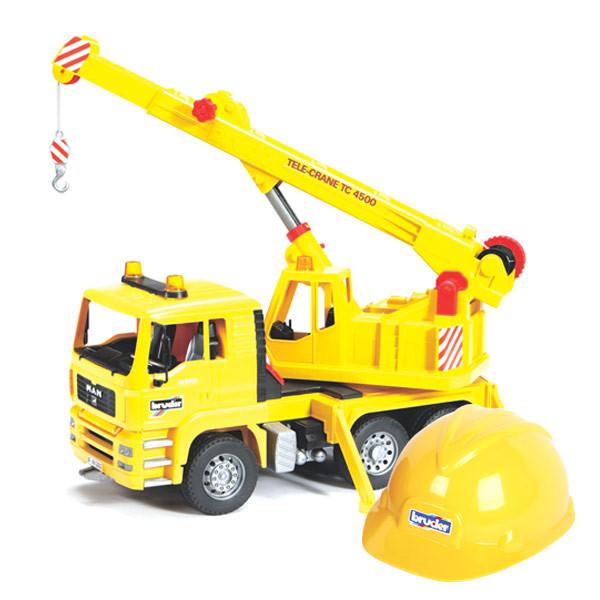Машина Автокран  МAN + каска желтая