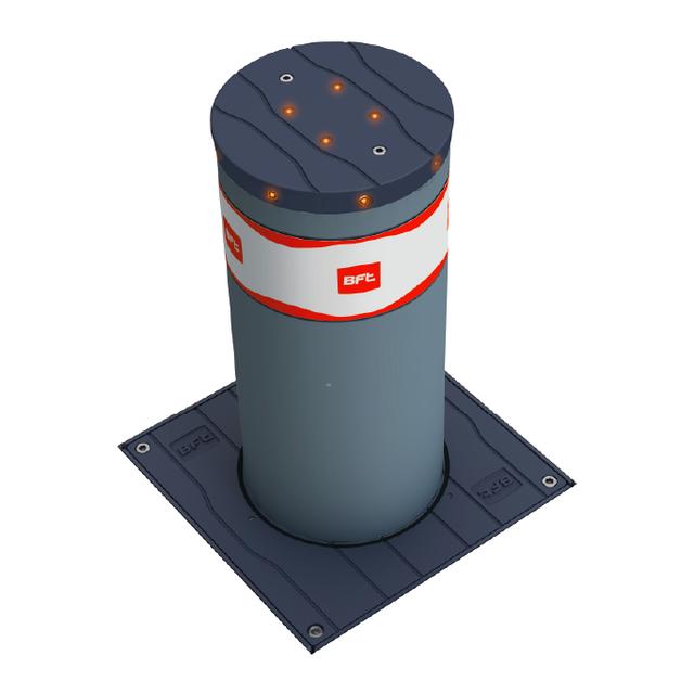 STOPPY MBB/ DACOTA 220/700 нержавейка - усиленный боллард электромеханический с накладкой из нержавейки