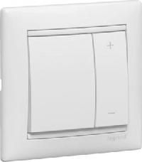 Legrand Valena Белый Светорегулятор нажимной 40-400W для л/н. универсальный,многофункциональный  (770062)