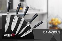 Набор из 5 кухонных стальных ножей Damascus и подставка