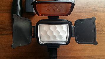 24000 тенге Накамерный прожектор LED-5012 + аккумулятор + зарядка 10 больших диодов 22000 тенге.
