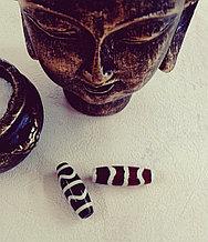 Бусина дзи двойной зуб тигра