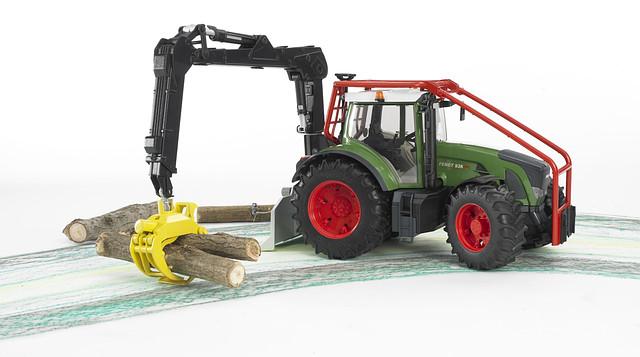 Трактор Fendt 936 Vario лесной с манипулятором,