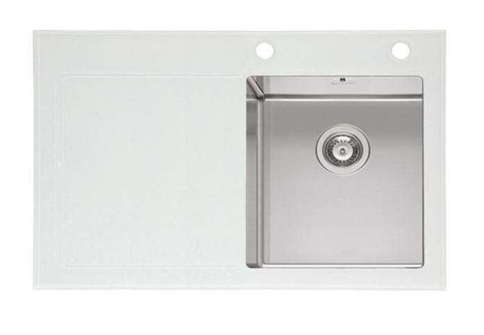 Кухонная мойка imenza charisma 1B 1D белая (сушка слева)