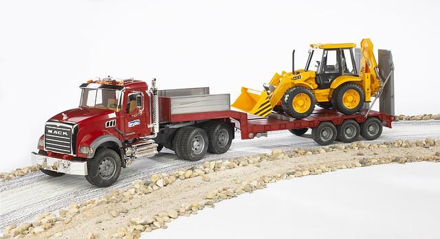 Игрушка Тягач N MACK Granite Truck с  экскаватором