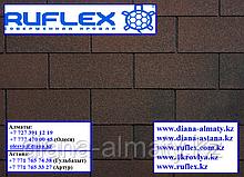Гибкая черепица Ruflex (Коллекция TAB) Кедровый Орех, SBS (СБС) модифицированный битум, Гарантия 35 лет!
