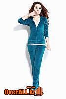 Синий велюровый костюм, фото 1