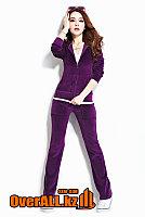 Фиолетовый велюровый костюм, фото 1