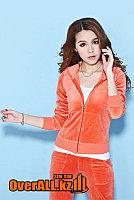 Оранжевый велюровый костюм, фото 1
