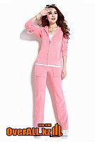 Светло-розовый велюровый костюм, фото 1