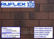 Гибкая черепица Ruflex (Коллекция Tab) Медный, SBS (СБС) модифицированный битум, Гарантия 35 лет!
