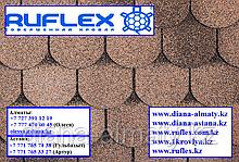 Гибкая черепица Ruflex (Коллекция Ornami) Песчаный Берег, SBS (СБС) модифицированный битум, Гарантия 35 лет!