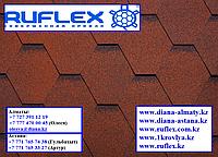 Гибкая черепица RUFLEX MINT Sota (Красный), минерал-битум, Гарантия 15 лет! +77075705151
