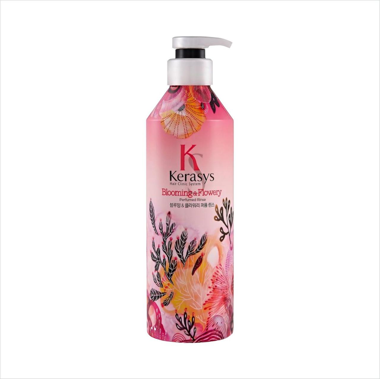 """Kerasys Perfume Blooming&Flowery Conditioner Кондиционер для волос парфюмированный """"Цветение"""" 600 мл"""