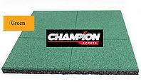 Резиновая плитка горячего прессования, 50смХ50см, 16 mm Зеленый, фото 1