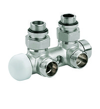 Клапан термостатический комбинированный угловой  (никель)