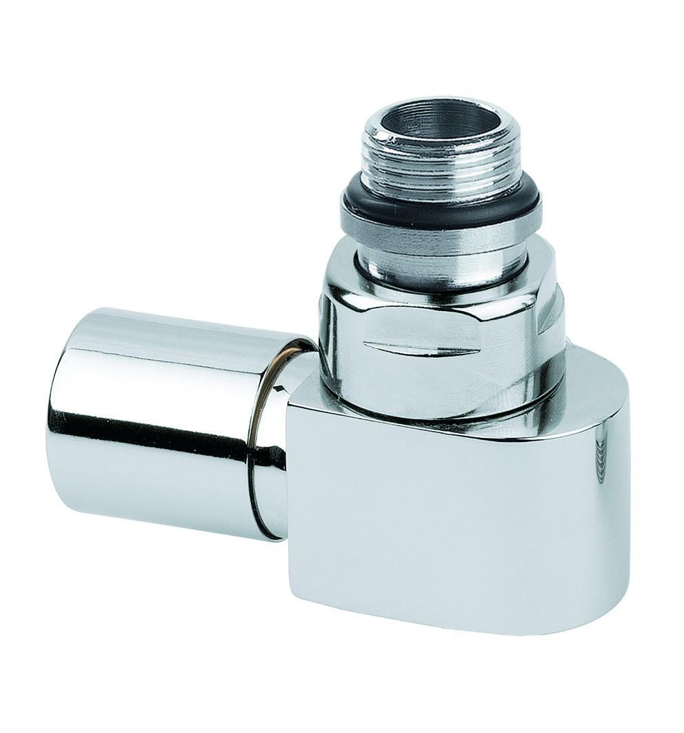Клапан ручной угловой (хром)