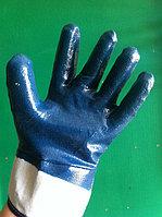 Перчатки нитриловые обливные с твердым манжетом , фото 1