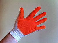 Перчатки Х/Б с латексом (ОБЛИТЫЕ - одинарный облив), фото 1
