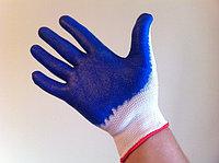 Перчатки Х/Б покрытые латексом (ОБЛИТЫЕ - одинарный  облив), фото 1