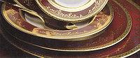Цептер Фарфор Роял Голд Бордо столовый сервиз на 12 персон