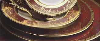 Цептер Фарфор Роял Голд Бордо столовый сервиз  на 6 персон