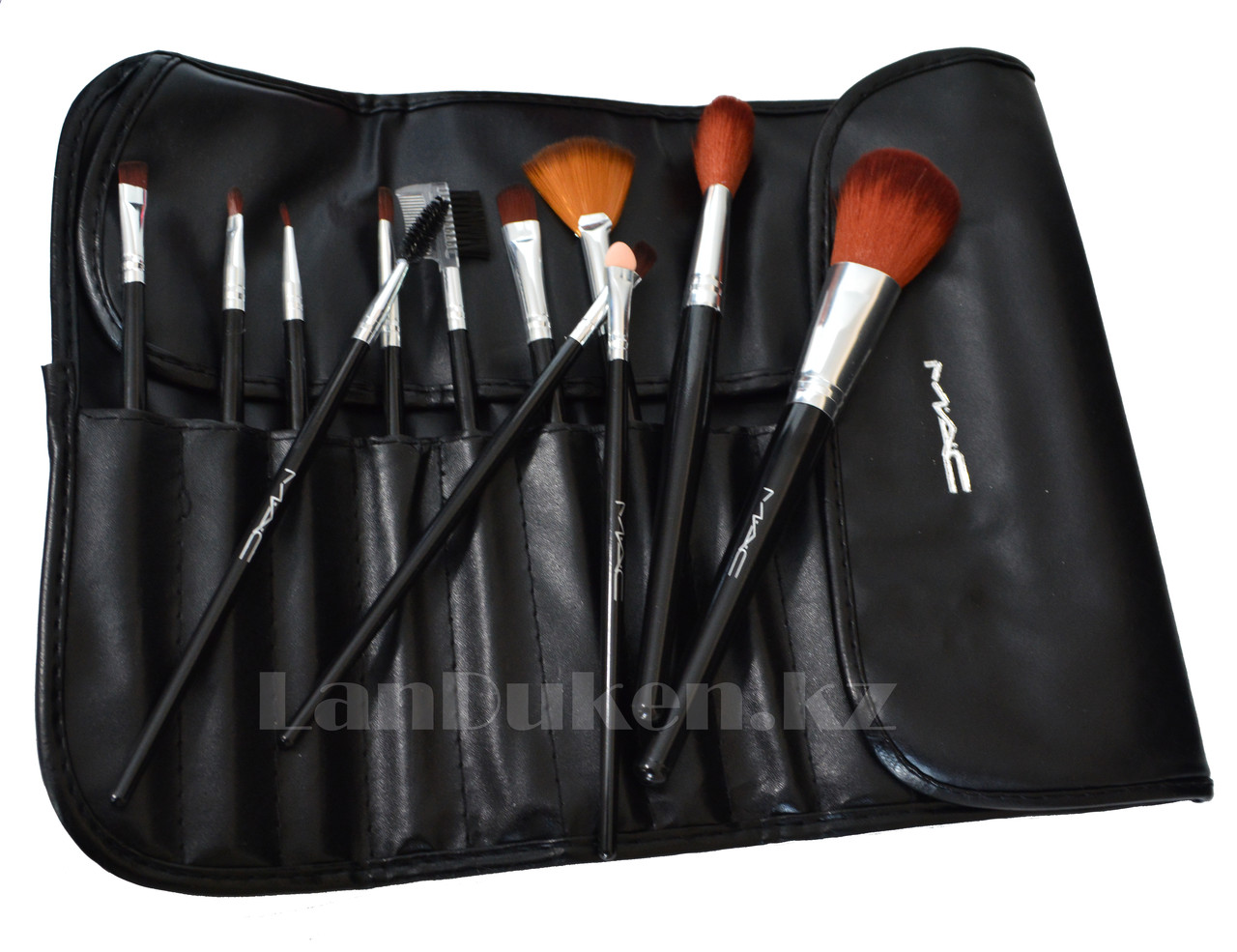 Кисти для макияжа MAC в чехле, набор для макияжа (12 штук)