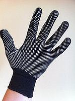 Перчатки нейлоновые черные 13 кл. вязкости с ПВХ покрытием, фото 1