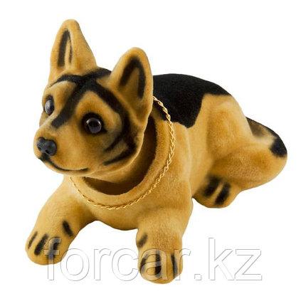 """Собака большая в машину с освежителем """"Лимон"""" SKYWAY Овчарка 16*8*10,5см, фото 2"""